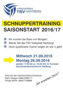 Schnuppertraining 16/17