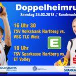 Das letzte Bundesliga Doppelheimwochenende steht vor der Tür!